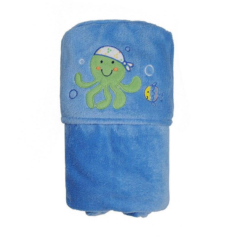 Полотенце халаты полотенце детское детское полотенце халат махровый халат детские полотенца махровый халат Baby Animal Face Baby Hooded towels bathrobe Coral Fleece bath towells toalha de banho bebe bath towelling - Цвет: blue