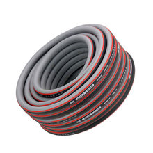 Gardening Household High Elastic PVC Hose Rubber Antifreeze Garden 1/2 Inch Pipe Soft Black Red Strong Fibre Watering Anti UV(China)
