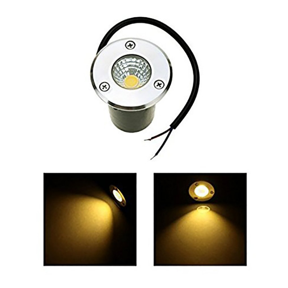 Lights & Lighting New Led Underground Light Ip68 5w Waterproof Outdoor Ground Garden Path Floor Buried Yard Spot Landscape 85-265v Dc12v Aromatic Character And Agreeable Taste Led Underground Lamps