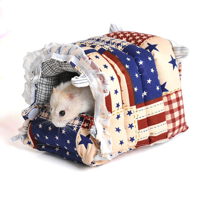 Милый Зверек любимая Кролик Guinea Pig house супер Хомяк крыса белка зима теплая Дома висит клетка Гнездо Хомяка аксессуар