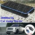 Супер водонепроницаемый 28000 mAh автомобильный пусковой стартер power Bank 12 V 1000A портативное пусковое устройство Автомобильное зарядное устройс...