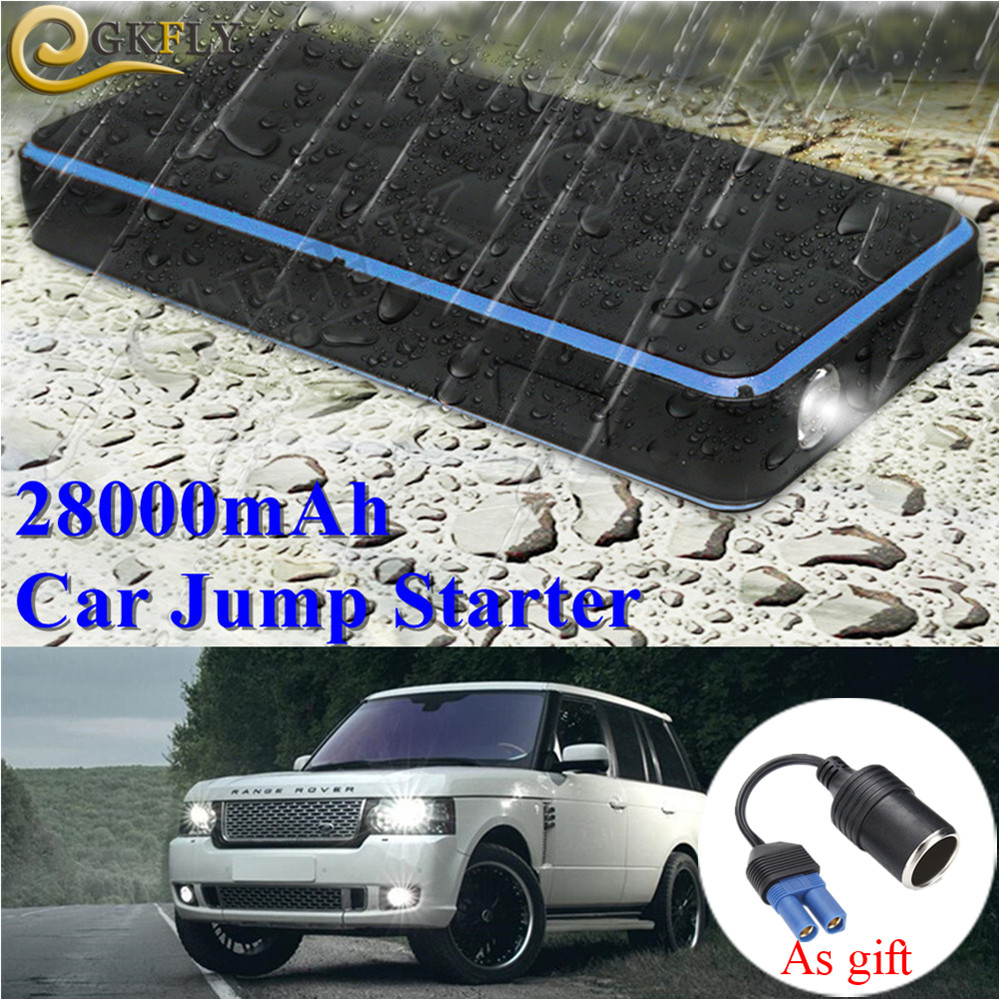 Super Waterproof 28000mAh Car Jump Starter Power Bank 12V 1000A Portable Starting Device Car Charger For Petrol 8.0L Diesel 6.0L
