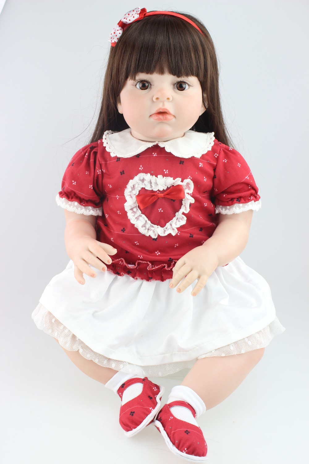 New design hot -selling lifelike reborn toddler doll soft silicone vinyl real gentle touch 28inches new fashion design reborn toddler doll rooted hair soft silicone vinyl real gentle touch 28inches fashion gift for birthday
