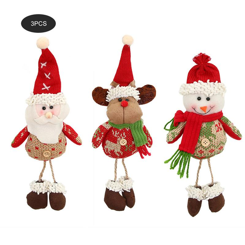 Old Man Christmas Gifts: 3pcs Christmas Decorations Old Man Doll Small Hanging