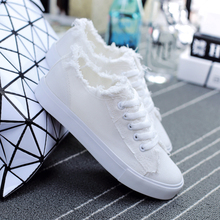 New 2016 Women Lace-Up Canvas Shoes Ladies Flats White Shoes Woman Fashion Brand Flat Shoes Women Footwear White Canvas Shoes