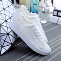 New Women Lace-Up Canvas Shoes Ladies Flats White Shoes Woman Fashion Brand Flat Shoes Women Footwear White Canvas Shoes