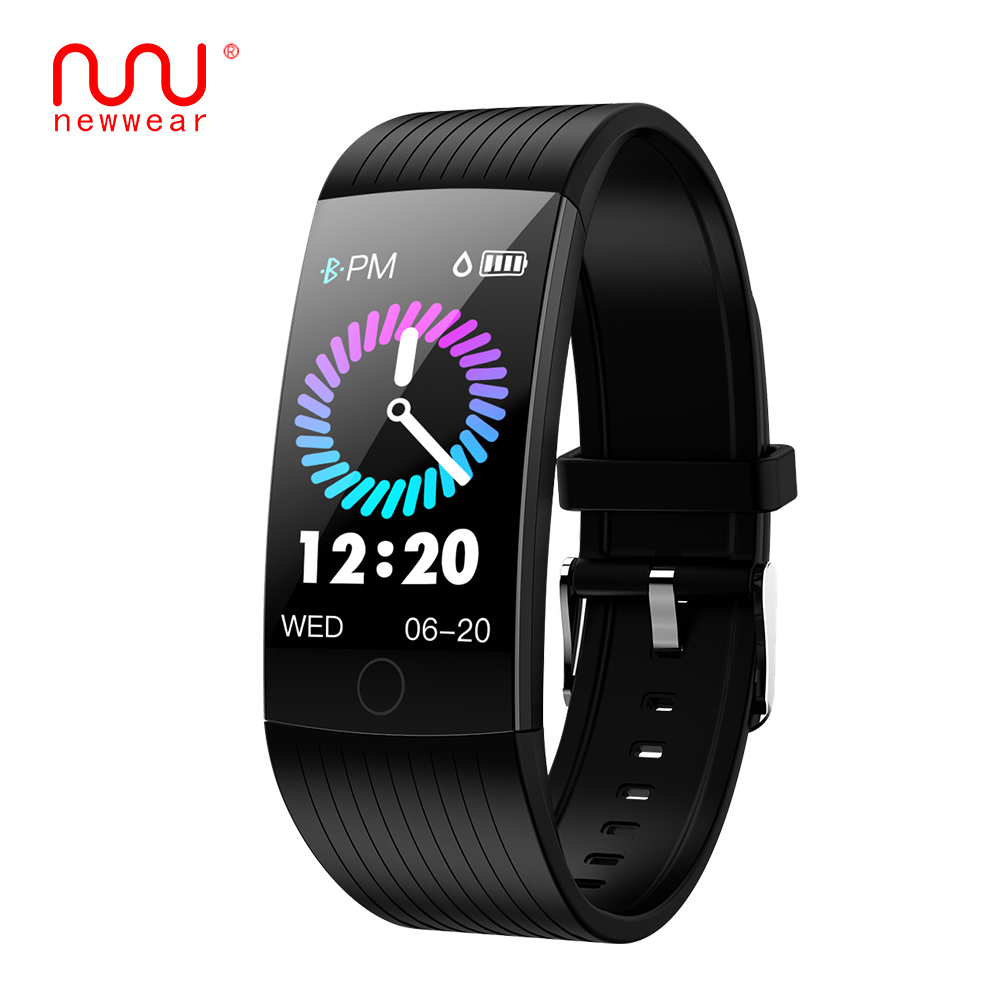 NEWWEAR Q18 1.14 inch screen smart band IP68 waterproof smart wristband bracelet Fitness tracker smartband For Android and IOS