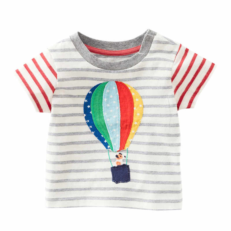 Boys Girls T-Shirts Fashion Cotton Hot Air Balloon Children Kids Cartoon Print Summer Short Sleeve Baby Child Tops Clothing Tee