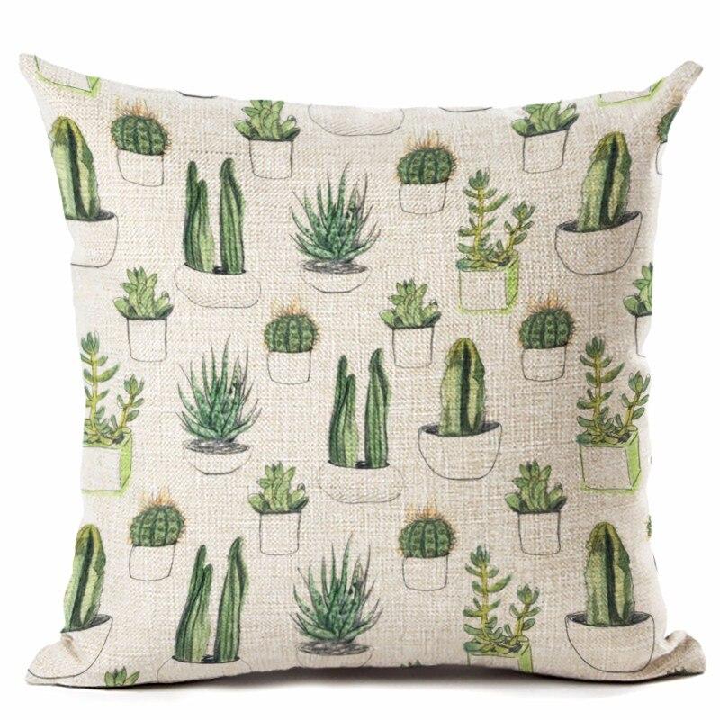 ②Moda estilo cactus impreso Fundas de colchón sofá decorativo ...