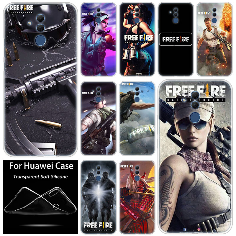 Hot Free Fire Game Fashion Soft Silicone Case for Huawei Mate 10 20 Lite Pro Y7 Y9 Prime 2019 Y5 2019 Y6 Prime 2018 Y5 2017 TPU image