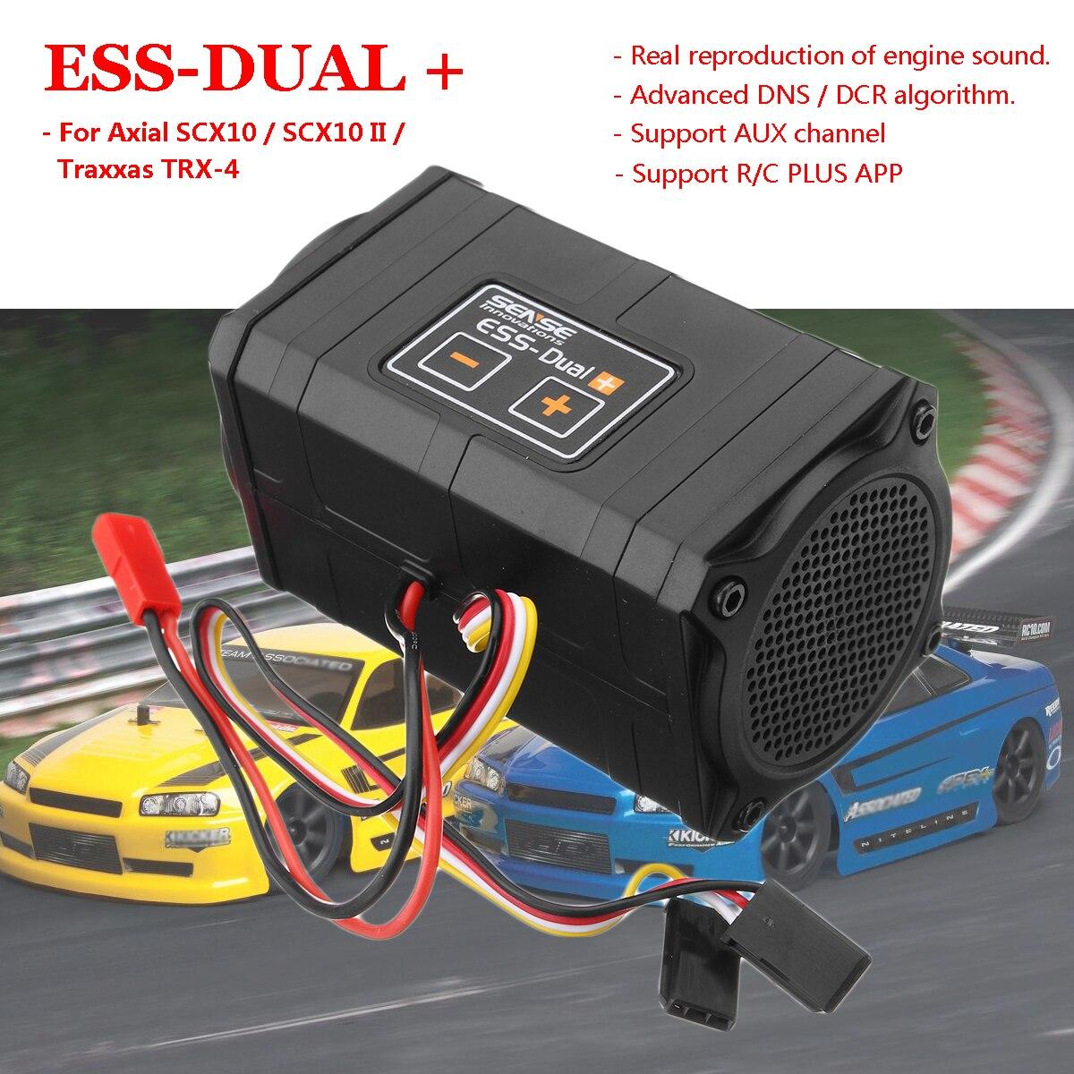 For Axial SCX10 II TRX-4 Parts & Accs Sense Innovations DUAL Plus Engine Sound Simulator RC/PLUS App Firmware Upgrade new dual speakers sense innovations ess dual engine sound system real engine sound simulator for scx10 trx 4 crawler rc car