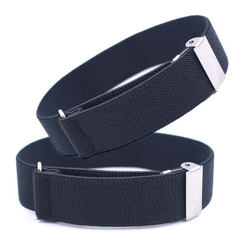 Helisopus 1 Piece Men Anti-slip Shirt Sleeve Holders Strap Adjustable Elastic Multi-color Armbands Suspenders