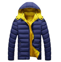 free shipping 2016 Winter new foreign trade casual hooded cotton jacket men and youth thicker jacket