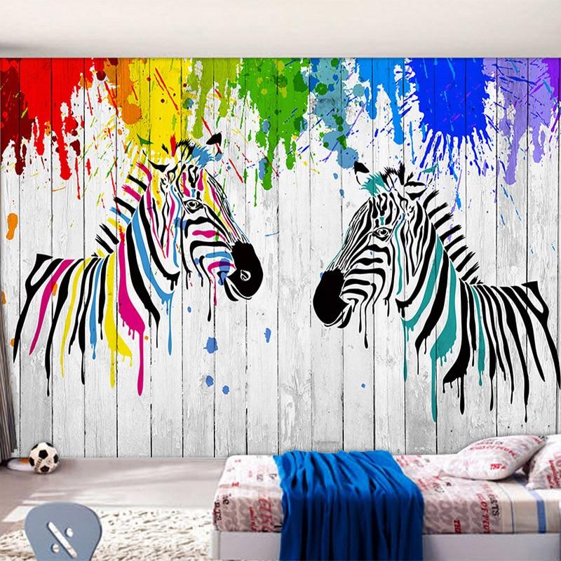 Online get cheap zebra wallpaper alibaba - Graffitis en papel ...