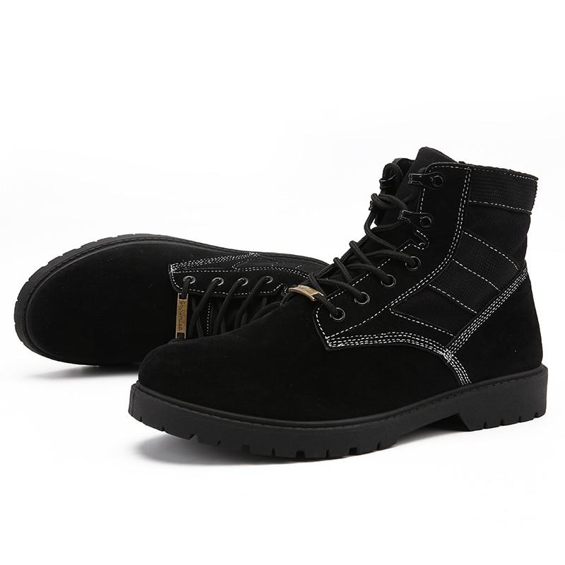 brown Travail Bottes Non Causalité Neige Escalade De Casual Martin slip Chaussures Hommes Costumes Haute Extérieure Tactique Hiver Black Aider vmN80wOn