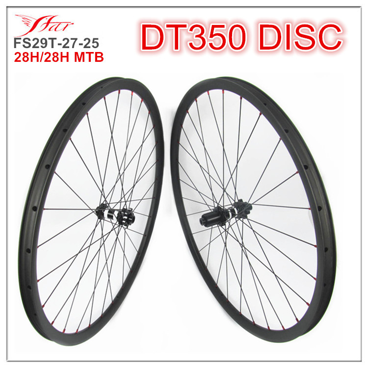 Competitive 29er bicycle wheelsets 27mm deep 25mm wide rims XC version moutain font b bike b