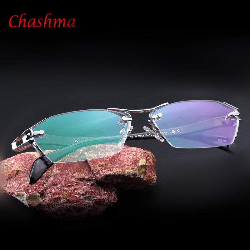 Tout nouveau 100% titane pur sans monture lunettes cadres hommes myopie optique lunettes cadre Prescription lunettes oculos de grau