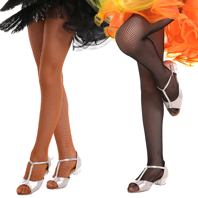 f13b39409e4 Hard Stretch Latin Fishnet Dance Tights Seamless Girls Adult Ballroom Dance  Pantyhose For Women