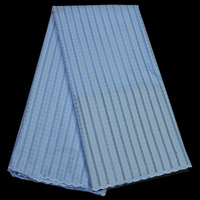 (5yards/pc) high quality African polish cotton lace fabric skyblue Swiss lace fabric for both man and women dress CLP71