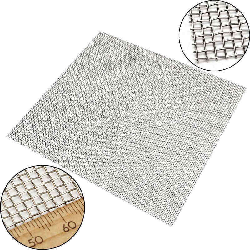 Stainless Steel 10 Mesh Filtration Mayitr Woven Wire Cloth Screen Filter 30*30cm For Filtering Industrial Paint Oil Water 5 8 20 30 40 mesh stainless steel screen wire filter sheet woven cloth 15x30cm with wear resistance