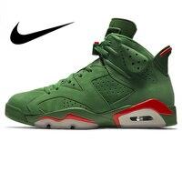 Nike Air Jordan 6 Gatorade AJ6 из замши зеленого цвета с Для мужчин, уличные баскетбольные кроссовки износостойкие уютная обувь 2018 Новый AJ5986