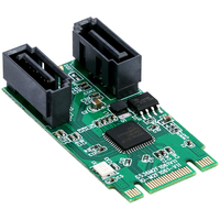 NGFF PCIe B+M key to 2 Port SATA 3.0 Card M.2 to dual SATA 6Gbps Adapter with 7Pin SATA cable ASM1061 SATA Port Multiplier