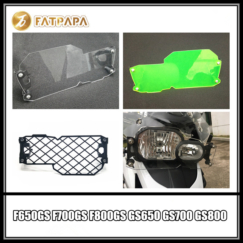 Motorcycle Headlight Guard GS Style Clear Front Lamp Protector Cover For BMW F650GS F700GS F800GS GS650 GS700 GS800 image
