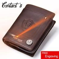 a99422d4f3333 2019 Vintage Men Wallets Multi Functional Cowhide Coin Purse Genuine Leather  Wallet For Men Male Credit