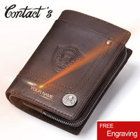 2019 Vintage Men Wallets Multi Functional Cowhide Coin Purse Genuine Leather Wallet For Men Male Credit&ID Wallet Famous Brand