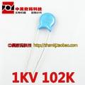 10pcs / lot 1KV102K 1KV 102K high voltage ceramic capacitors