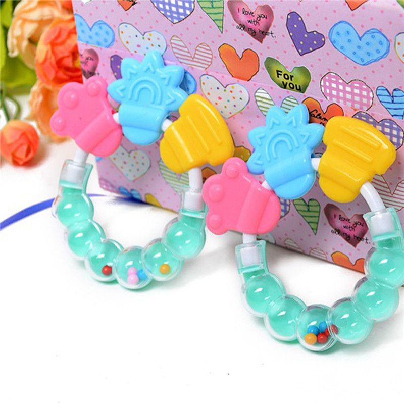 Cartoon Infant Toy 1 Pc Cartoon Baby Rattle Teether Toys For Baby 0 12 Month Newborn Development  Educational