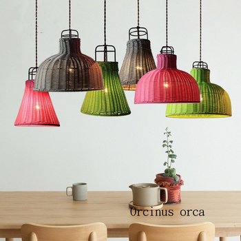 Nordic modern simple color LED single head chandelier bar table lamp art pastoral individuality Chandelier  free shipping