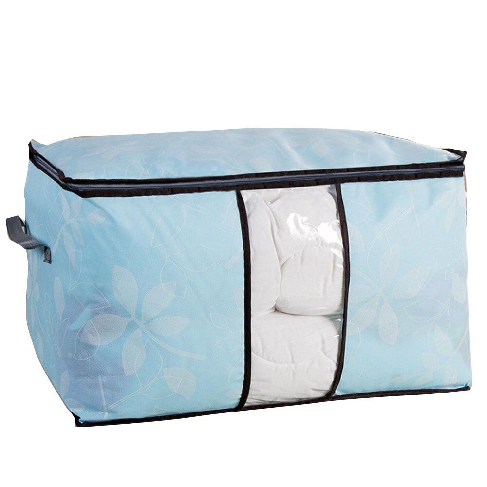 Сумки для хранения стеганых одеял шкаф вакуумный мешок для одежды портативный Багаж Подушка Одеяло подарочная упаковка для ювелирных изделий контейнер Домашний Органайзер - Цвет: blue