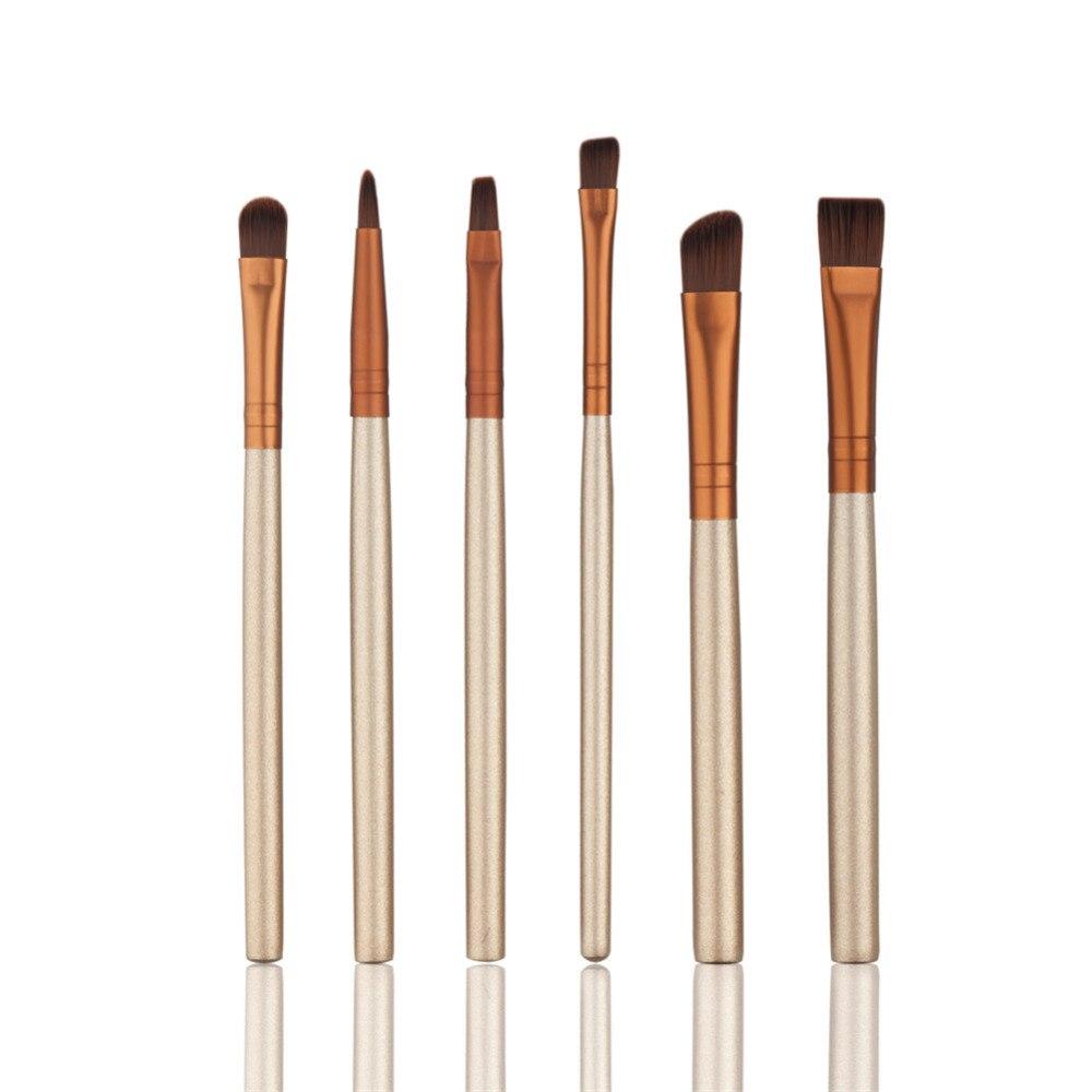 6pcs Eye Makeup Brushes Set Professional Eyeliner Eyeshadow Foundation Powder Brushes Make Up Tools Beauty Pencil Brush Kit