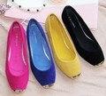 Freeshipping Best Selling Korean Design Sweet Lady Fashion Flat Shoes Elegant Women Flats Plus Size 4 Colors V049-1