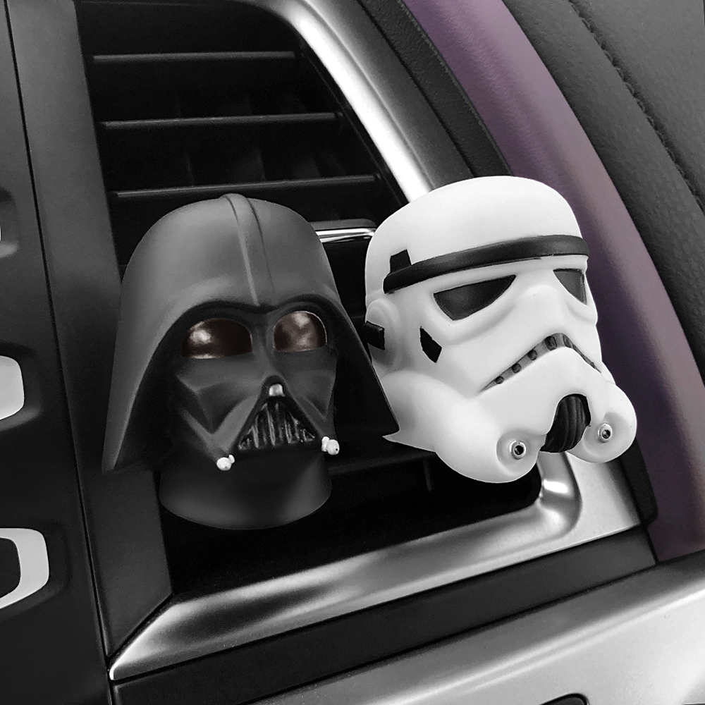 Car Air Freshener Cute Vent Perfume Clip For Star Wars Automobile Interior Baymax Doll Fragrance Smell Diffuser Accessories Gift moonbiffy air force 2 creative car outlet vent clip air freshener perfume fragrance scent sweet smell aromatic cologne bouquet