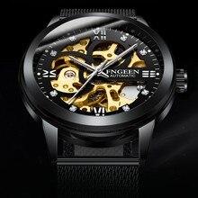 FNGEEN Men Luminous Mechanical Watch Top Brand Luxury Skeleton Automatic Watches