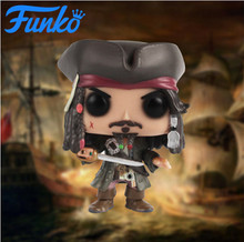 цена на Official FUNKO POP Pirates of the Caribbean #273 Model JACK Sparrow Captain Barbossa Action Figure Star Vinyl Dolls Collection