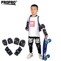 PROPRO 6pcs/set. Protective Gear Set Knee Elbow Pads Wrist Protector for Scooter Cycling Skaters Roller Skateboard Skin Care Kit