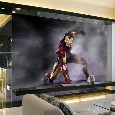 New 3D Iron Man Mural Wallpaper Full Wall Murals Print Decals Home Decor  Photo Wallpaper