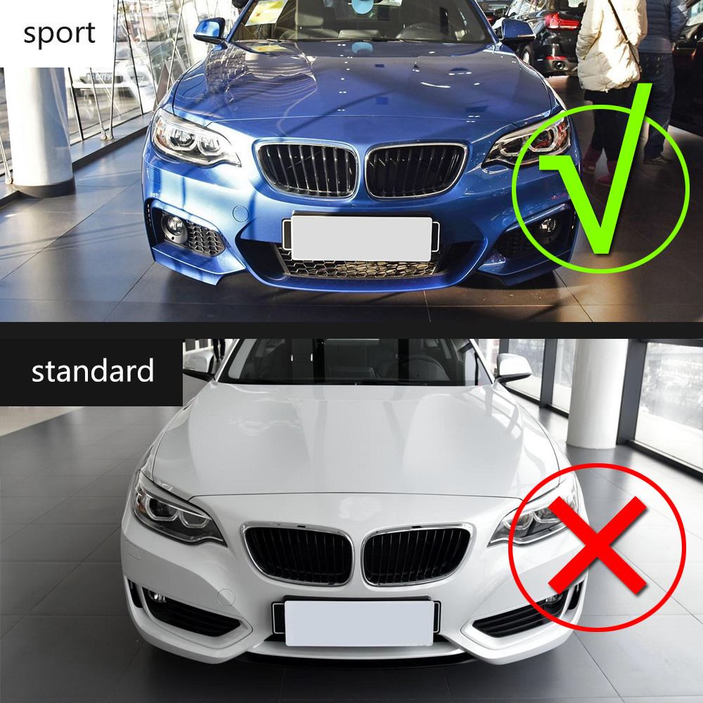 2 serie carbon fiber front bumper lip spoiler chin for bmw f22 m sport coupe only 14 17 convertible 220i 230i 235i two style in bumpers from automobiles  [ 1000 x 1000 Pixel ]