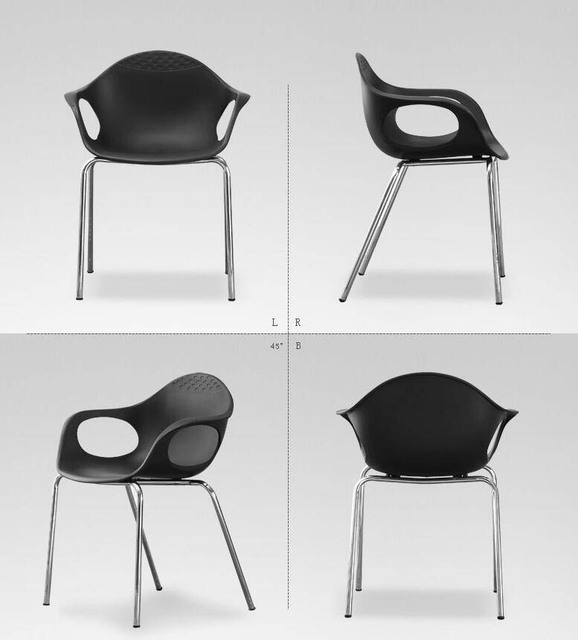 Fashion Modern Creative Minimalist Leisure Plastic Conference  Thicken Stoel Armchair Dining Iron Chairs Ergonomic Furniture
