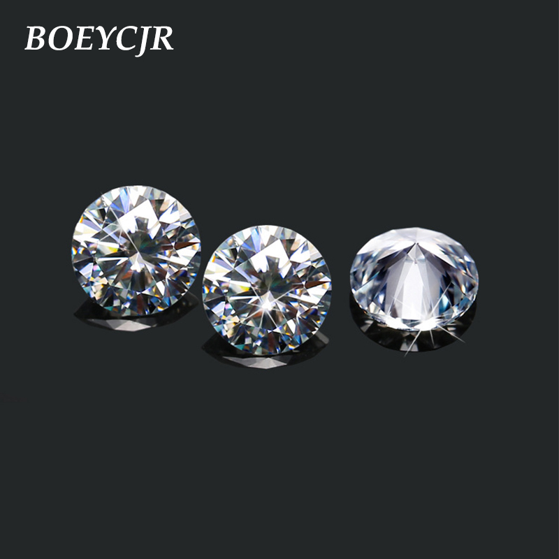 BOEYCJR 1.2ct 7mm F Color Round Brilliant Cut Moissanite Loose Stone VVS1 Excellent Cut Jewelry Making Stone Engagement Ring