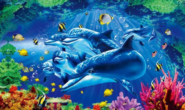 Buy diy home decoration underwater world for Mural hidupan laut