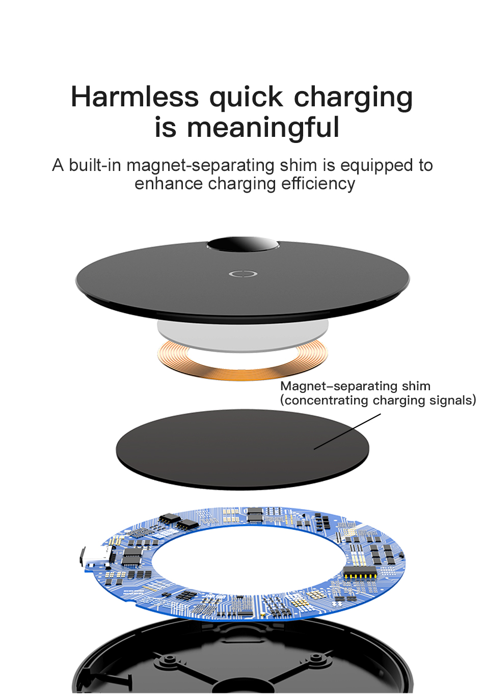 Baseus 10W Wireless Charger Digital Display QI Wireless Charger Pad