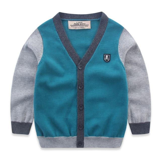 78dbe728f Warm Boy Cardigan Knitted Sweater Children Knitting Kordigan Pull ...