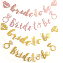 Glitter Diamond Ring Bride To Be Paper Bunting Banner for Wedding Engagement Bachelorette Bridal Shower Hen Party Decoration стоимость