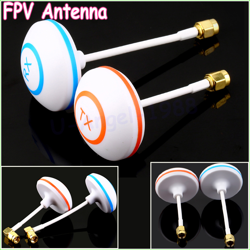 2pcs/lot 5.8GHz Circular Polarized Mushroom Antenna SMA Set Tx/Rx for FPV Aerial RC (1 pair) 1 pair fpv 5 8g rp sma male mushroom antenna gains fpv aerial photo antenna for tx & rx