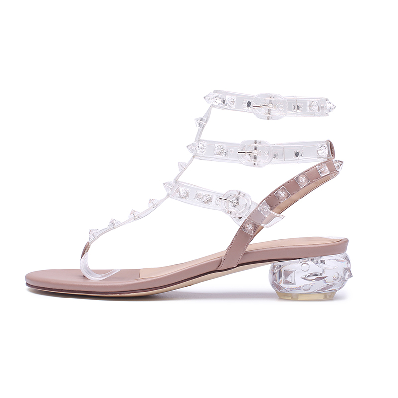 Scarpe Crystal Gladiator Wetkiss Style 2018 Infradito Infradito Summer West Sandali Donna Beige donna da Strange HFqnPwH0