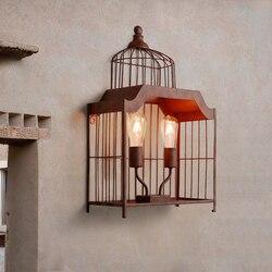 Retro przemysłowe kinkiet  Loft Hotel Cafe Restaurant światło ściany żelaza osobowości Decor korytarz oświetlenie sypialni